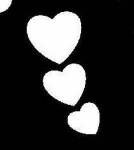 Glitter Tattoo HEARTS 3 harten 3