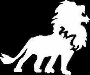 Glitter Tattoo LION SCREAM leeuw brult
