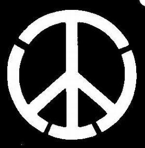 Glitter Tattoo PEACE SIGN vredesteken