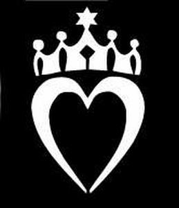 Glitter Tattoo HEART ROYAL 2 hart kroon