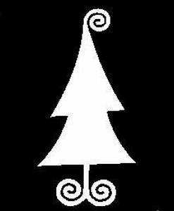 Glitter Tattoo CHRISTMAS TREE CURLY kerstboom