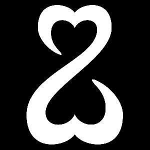Glitter Tattoo HEARTS DOUBLE harten 2