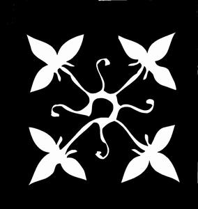 Glitter Tattoo FLOWERS QUATRO 2 bloem