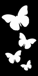 Glitter Tattoo BUTTERFLIES 4 (1) vlinders