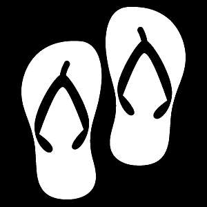 Glitter Tattoo FLIPFLOPS slippers