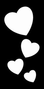 Glitter Tattoo HEARTS 4 harten 4 op rij