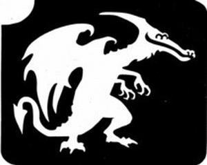 Glitter Tattoo DRAGON draak