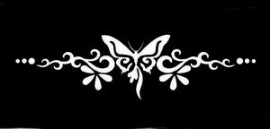 Glitter Tattoo BRACELET BUTTERFLY VLINDER ARMBAND
