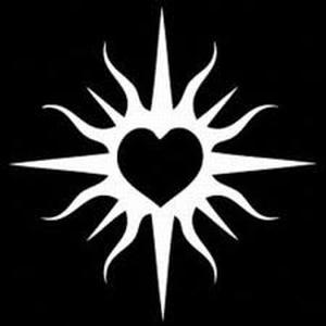 Glitter Tattoo HEART in SUN hart