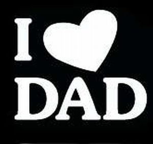 Glitter Tattoo I LOVE DAD  ik houd van vader
