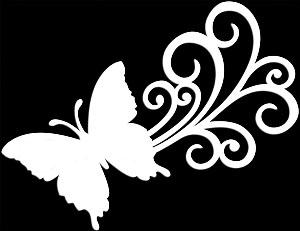 Glitter Tattoo BUTTERFLY SWIRL vlinder