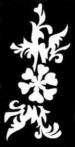 Glitter Tattoo FLOWER LEAVES bloem blaadjes