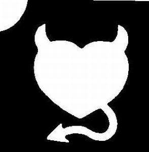 Glitter Tattoo HEART DEVIL duiveltjeshart