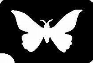 Glitter Tattoo BUTTERFLY SMALL vlinder klein