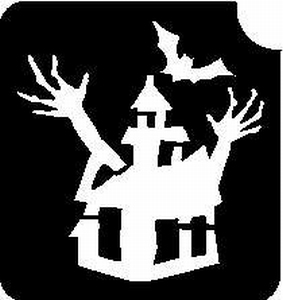 Glitter Tattoo HALLOWEEN HAUNTED HOUSE griezelig huis