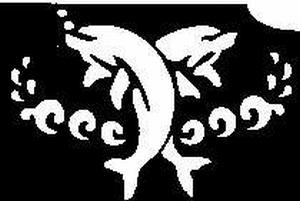 Glitter Tattoo DOLPHIN DECO dolfijnen deco