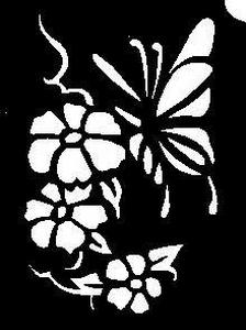 Glitter Tattoo BUTTERFLY 11 FLOWER vlinder bloemen