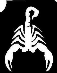 Glitter Tattoo SCORPION Scorpioen