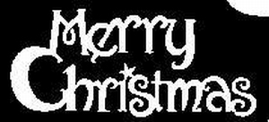 Glitter Tattoo CHRISTMAS MERRY CHRISTMAS