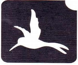 Glitter Tattoo HUMMINGBIRD 1 kolibri vogel