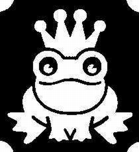 Glitter Tattoo FROG ROYAL kikker kroon
