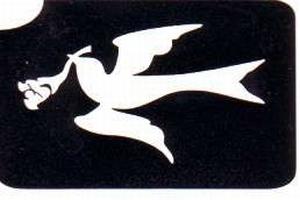 Glitter Tattoo PEACE DOVE vredesduif