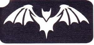Glitter Tattoo HALLOWEEN BAT vleermuis