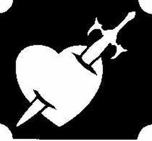 Glitter Tattoo HEART SWORD hart zwaard