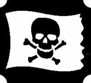 Glitter Tattoo PIRATE FLAG piratenvlag