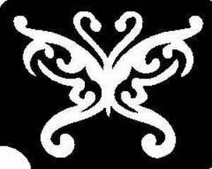 Glitter Tattoo BUTTERFLY DECO vlinder