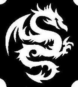 Glitter Tattoo DRAGON TRIBAL 2 draak
