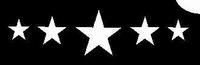 Glitter Tattoo STARS FIVE 5 sterren