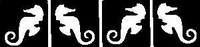 Glitter Tattoo SEAHORSES SMALL ZEEPAARDJES 4X