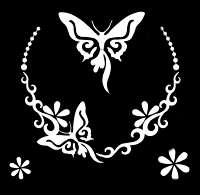 Glitter Tattoo BUTTERFLY NECKLACE ketting