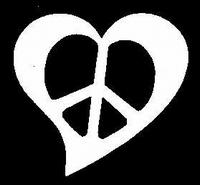 Glitter Tattoo HEART PEACE SIGN hart vredesteken