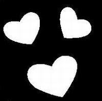 Glitter Tattoo HEARTS 3b harten