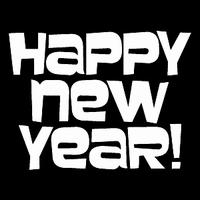 Glitter Tattoo HAPPY NEW YEAR gelukkig nieuwjaar