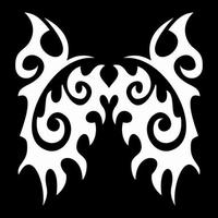 Glitter Tattoo TRIBAL WINGS vleugels