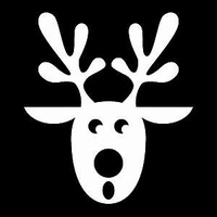 Glitter Tattoo CHRISTMAS REINDEER 4 rendier