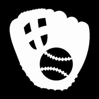 Glitter Tattoo GLOVE SOFTBALL handschoen