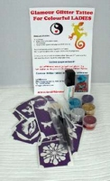 Glitter Tattoo Set LADIES