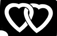 Glitter Tattoo HEARTS DOUBLE harten