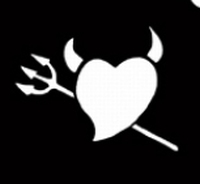 Glitter Tattoo HEART DEVILSFORK hart