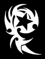 Glitter Tattoo STAR TRIBAL ster