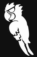 Glitter Tattoo PIRATE PARROT papegaai piraat