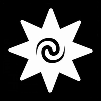 Glitter Tattoo STAR SWIRL INSIDE ster