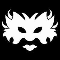 Glitter Tattoo MASK 2 masker carnaval