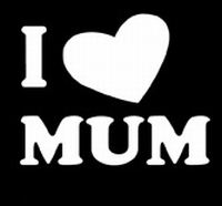 Glitter Tattoo I LOVE MUM ik houd van moeder