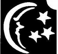 Glitter Tattoo MOON STARS maan met sterren
