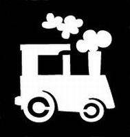 Glitter Tattoo LOCOMOTIVE locomotief treintje